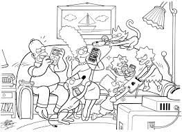 fancy couch drawing. Simpson Couch IFamily Comic Art Fancy Drawing