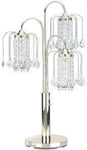 chandelier table lamps 3 light style lamp in polished brass finish shades uk