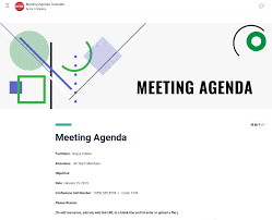 How To Write An Agenda Of A Meeting Meeting Agenda Template How To Create An Effective Agenda