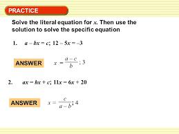 practice 1 a bx c 12 5x 3 solve