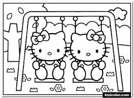 Halloween is so much fun! Hello Kitty In A Swing Kizi Free 2021 Printable Super Coloring Pages For Children Hello Kitty Super Coloring Pages