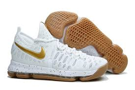 nike shoes white and gold. 2016 nike kd 9 ix sneakers white gold mens basketball shoes sale online and