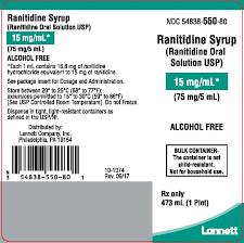 Ranitidine Syrup Ranitidine Oral Solution Usp 15 Mg Per