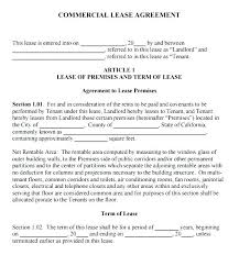 Commercial Lease Agreement Sample 8 Sample Commercial Lease ...