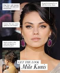 get the look mila kunis effortless glamour makeup and hair