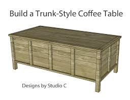 build a trunk style coffee table designs by studio c intended for 14