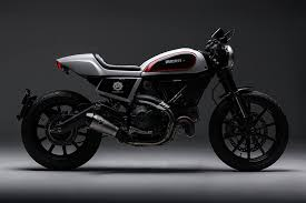 skunk machine blends ducati scrambler with a hint of cafe racer