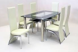 dining table with 6 chairs round glass and black chairs 1929 120 round glass dining table