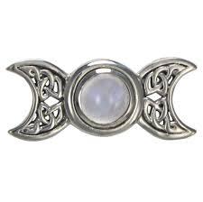 sterling silver celtic knot triple moon