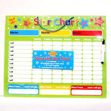 Reward Chart For 3 Yr Old Details About Magnetic Reward Star Chart 3 Colours For 3 Children Dry Wipe Pen Wipe Clean New
