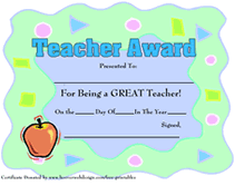 Best Teacher Award Template Printable Teachers Appreciation Week Certificates Awards Templates