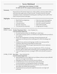 Sample Zoning Supervisor Resume Loss Prevention Resume Cute Best Loss Prevention Supervisor