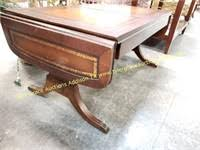 Sold***elegant antique federal duncan phyfe style pedestal coffee/side table ambitattic 5 out of 5 stars (10) $ 300.00. Vtg Duncan Phyfe Executive Leather Coffee Table Tyler Grace Auctions