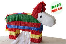 diy pull string donkey piñata