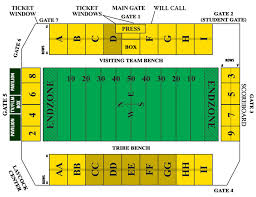 William And Mary Football Stadium Seating Chart Seating Charts The Official Site For William Mary