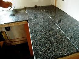 image of granite tile countertop installation