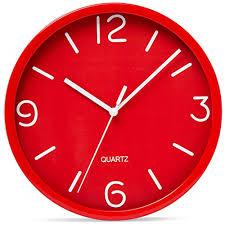 bernhard s red wall clock 8 inch