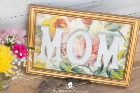 diy framed fl mom sign lovely easy to make gift for mother s
