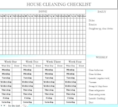 Household Chore List Template Sample Cleaning Checklist 7 Documents In Word Household