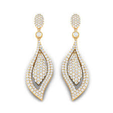 chandelier earrings wedding 3 65ct diamond natural certified solid white gold