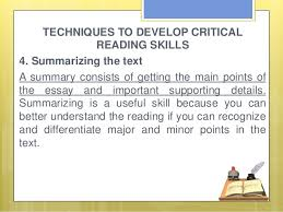 critical reading 20 techniques to develop critical reading skills