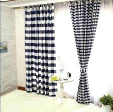 red and black buffalo check curtains ds lined cotton navy white p