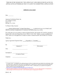 Example Of Fcc Agency Authorization Letter In Word And Pdf Formats