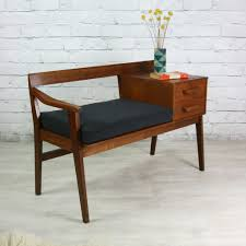 UNIQUE HAND MADE MAHOGANY TELEPHONE BENCH SEAT 2 CUPBOARDS Telephone Bench Seat