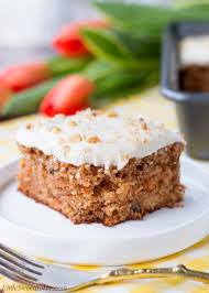 Easy Carrot Cake With Cream Cheese Frosting Little Sweet Baker