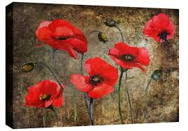 canvas wall art poppies