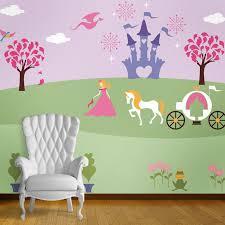 princess mural on bedroom wall