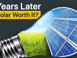 5 years examination of a solar panels return on investment
