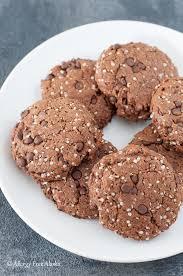 paleo vegan double chocolate protein cookies from allergy free alaska