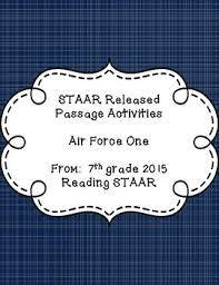 Staar Released Passage Activities Air Force One Grade 7