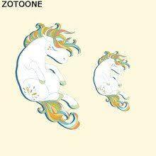 <b>ZOTOONE</b> Cute Sleeping <b>unicorn</b> Heat Transfers Iron Fabric Sticker ...