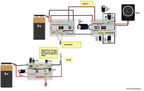 infrared based music transmitter and receiver build circuit ir music transmitter and receiver1 schematic