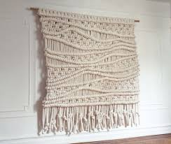 extra large custom macrame wall hanging all natural cotton in a fun modern design nbsp on extra large fabric wall art with macro macram