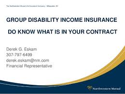 Group Disability Presentation Cool Northwestern Mutual Life Insurance Quote