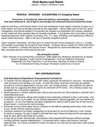 Financial Accounting Manager Sample Resume Simple Top Accounting Resume Templates Samples