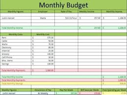 Monthly Expenses Report Custom Monthly Bills Spreadsheet Template Excel Household Expense Tracking