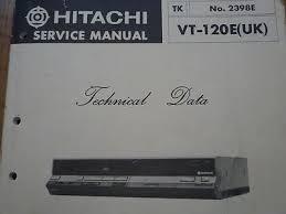 hitachi vt 120e vhs vcr video cassette tape deck service manual hitachi vt 120e vhs vcr video cassette tape deck service manual wiring diagram