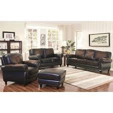 Leather Living Room Sets Venezia 4 Piece Top Grain Leather Living Room Set
