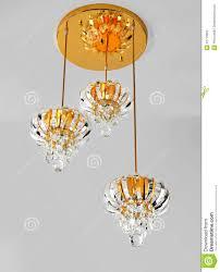 Goldene Kristall Deckenleuchte Hängende Lampe Kristall
