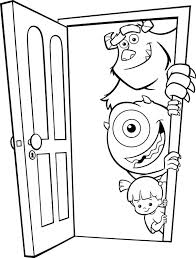 Monsters Inc Coloring Page Monster Inc Coloring Pages Monsters Page