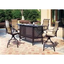 Venus Pub Table Set With Barstools 8 Piece Outdoor Wicker Patio Outdoor Pub Style Patio Furniture