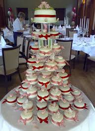 Mini Cake Tower In Red Pink Divine Wedding Cakes