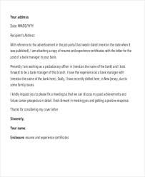 Collection Of Solutions Cover Letter For A Bank Manager Position
