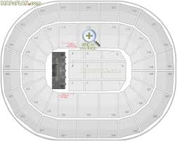 Generic row layout only - Manchester Arena seating plan