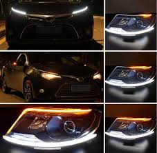 How To Install Flex Led Lights In Car China Flexible Dual Color Led Headlight Surface Strip Tube