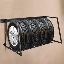 wall mount tire rack. Fine Mount Gymax MultiTire Rack Storage Adjustable Steel Wall Mount Tire Garage  Intended 6